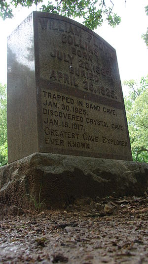 Floyd Collins - Floyd Collins' grave, with epitaph