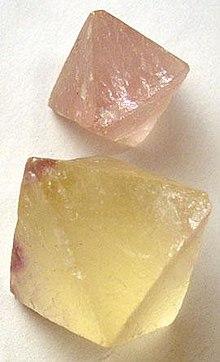 Fluorite - Fluor hältiges Mineral
