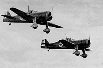 Ilmari Juutilainen - Fokker D.XXI aircraft in the Finnish air force during World War II. Flying this type of aircraft, Juutilainen scored his two individual victories, plus one shared