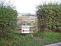 Footpath sign - geograph.org.uk - 1615032.jpg