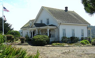 National Register of Historic Places listings in Mendocino County, California - Image: Ford house, Mendocino, California