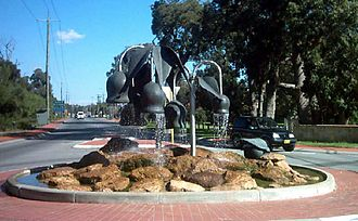Forrestfield, Western Australia - Roundabout at entrance to Hartfield Park
