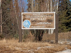 Fort MacKay - Fort McKay First Nation's welcome sign for the community