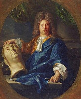 Antoine Coysevox - Antoine Coysevox by François Jouvenet (1701)