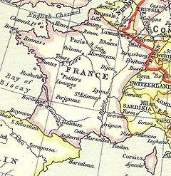 Kongeriget Frankrig 1815.