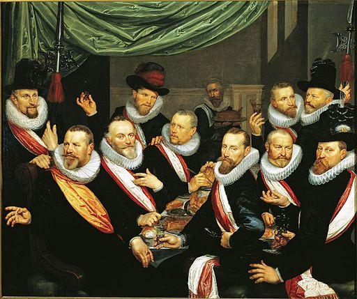 Frans Pietersz de Grebber - Maaltijd van officieren van de St. Jorisdoelen 1618
