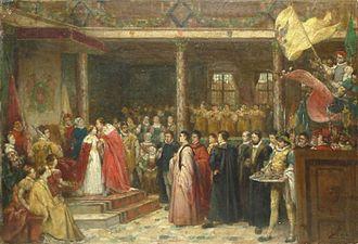 Franz Vinck - Image: Franz Vinck The crowning of Margaretha of Parma