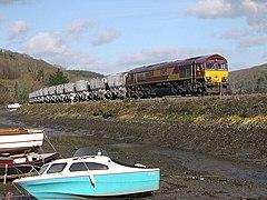 Freight Train through Golant - geograph.org.uk - 109867.jpg