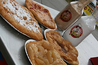 Fried dough - Various fried dough toppings