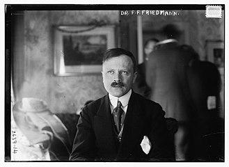 Friedrich Franz Friedmann - Friedmann in 1913