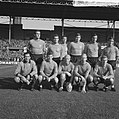 Frits Nederlands elftal, v.l.n.r. Schrijvers, Muller, Burgers, Rinus Israel, Vel, Bestanddeelnr 918-3251.jpg