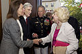 From left, Jeanne Vander Myde Warner; retired U.S. Sen. John Warner, the Evening Parade guest of honor and a former secretary of the Navy; and U.S. Marine Corps Gen. James F. Amos, the commandant of the Marine 130503-M-LU710-078.jpg