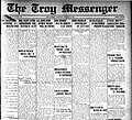 Front page of newspaper, The Troy Messenger, 25 Feb. 1925.jpg