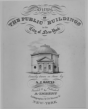 The Rotunda (New York City) - Frontispiece to Views of the Public Buildings in the City of New York 1827.