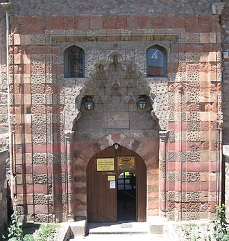 Pervâne - Façade of the theological school Gök Medrese in Tokat, founded by the Pervâne ca. 1270.