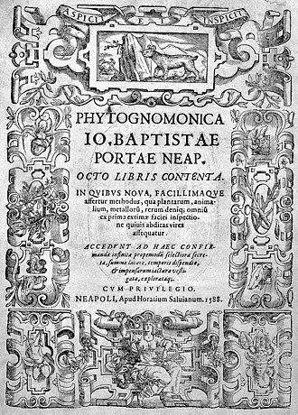 Giambattista della Porta - Phytognomonica, 1588