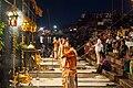 Ganga aarti at Dasaswamedh Ghat, Varanasi 03.jpg