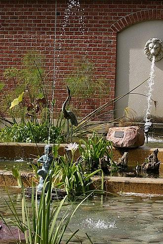 Culture of Omaha, Nebraska - The Garden of the Senses Fountain at Omaha's Henry Doorly Zoo