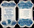 Garnkarte für Neger-Garn der Firma Gebr. Wolf aus Neukirch-Pleisse (Sachsen) vor 1960.png