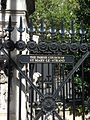 Gate of St Mary Le Strand beside King's College London.jpg