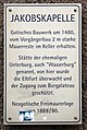 Gedenktafel Leipziger Str (Meißen) Jakobskapelle.jpg