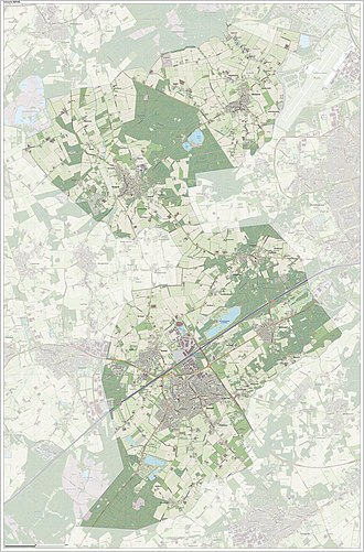 Eersel - Dutch Topographic map of Eersel, June 2015