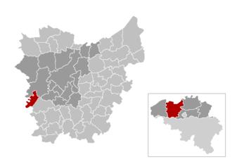 Zulte - Image: Gem Zulte Location