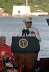 Gen. Colin L. Powell speaks during an observance of the 50th anniversary of the Japanese attack on Pearl Harbor.jpg