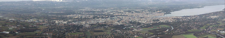 Вид Женевы с горы Салев.