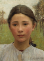 George Clausen - The head of a young girl.png