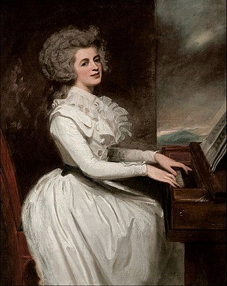 Thomas Raikes - Charlotte Raikes, wife of Thomas Raikes, portrait by George Romney
