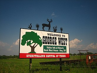 George West, Texas - George West entrance sign