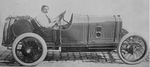 Georges Boillot - Boillot in his Peugeot EX3