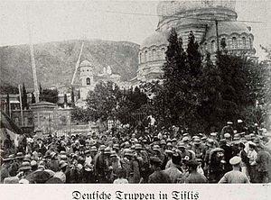 Georgia–Germany relations - German troops in Tbilisi, 1918