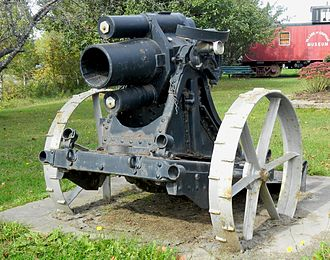 Chipman, New Brunswick - Captured German artillery gun (WWI) on display in Chipman