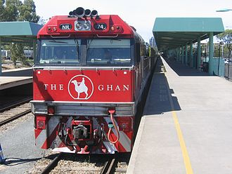 The Ghan - Pacific National NR74 in The Ghan livery