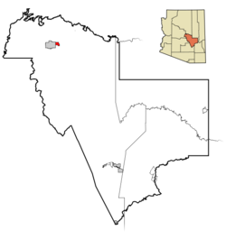 Location in Gila County and the state of آریزونا