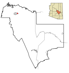 Gila County Incorporated and Unincorporated areas Star Valley highlighted.png
