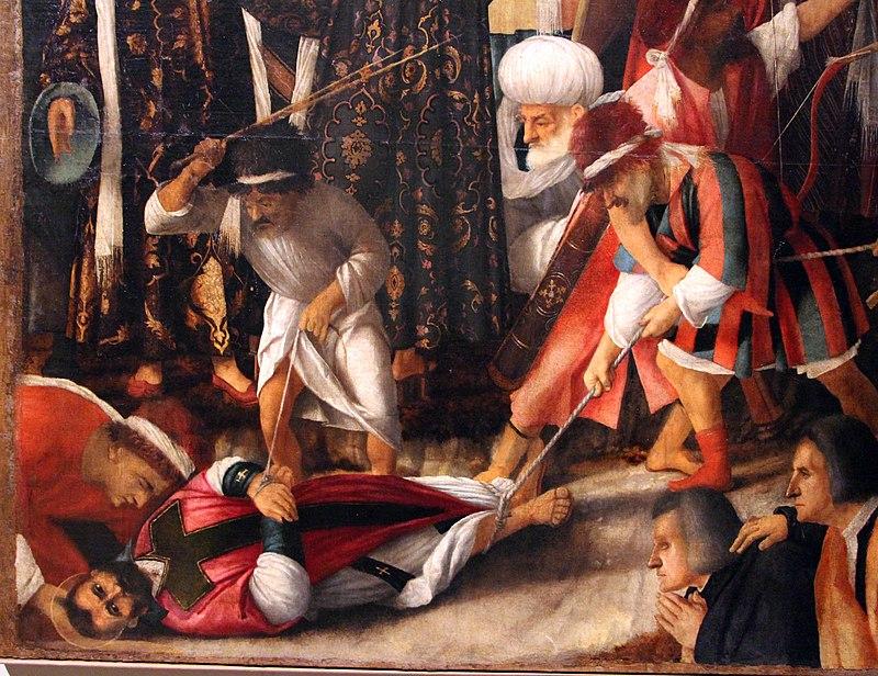 Giovanni bellini e vittor belliniano, martirio di s. marco, da scuola grande di s. marco, 06.JPG