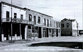 O.K. Corral hearing and aftermath - The Gird Block containing the Mining Exchange Building where the hearing was held.