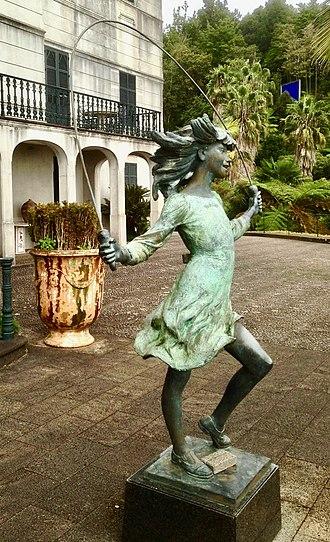 James Butler (artist) - Girl skipping rope, Bronze sculpture (1987) at Monte Palace Gardens, Funchal, Madeira