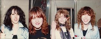 Girlschool - Girlschool original line-up: Kim McAuliffe, Enid Williams, Kelly Johnson, Denise Dufort (1981)