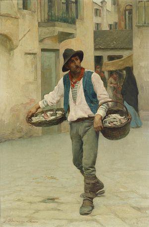 Giuseppe Barison - Venetian Fishmonger