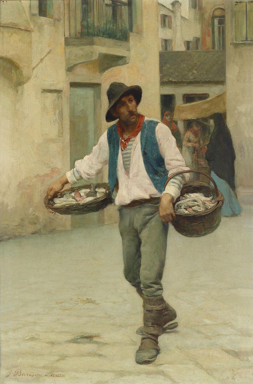 Giuseppe Barison Venezianischer Fischverk%C3%A4ufer.jpg