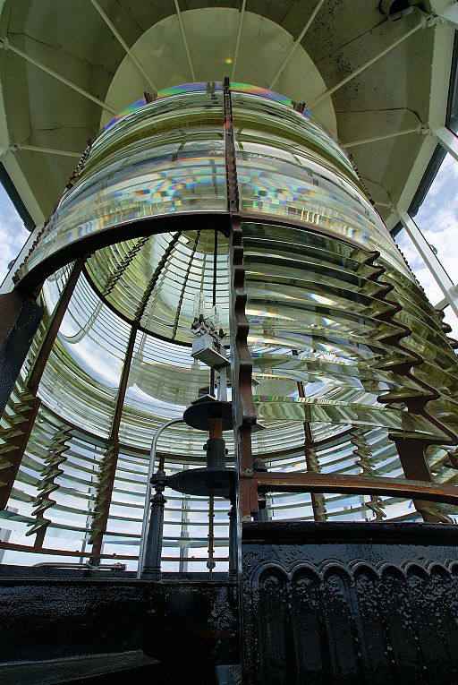 Glass lens of Bodie Island Light House