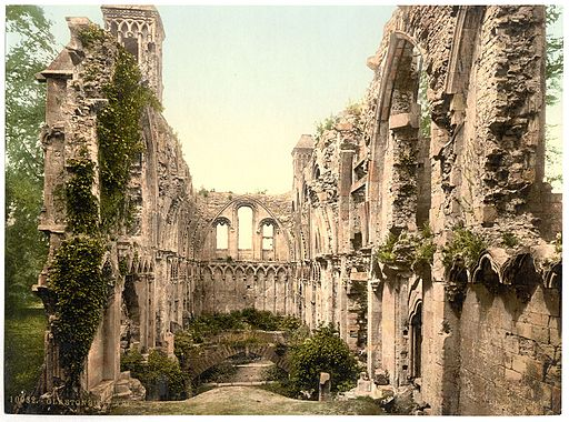 Glastonbury Abbey Lady Chapel c1900