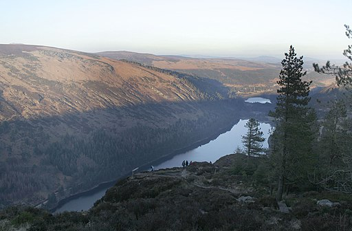 Glendalough, the upper and lower lakes - geograph.org.uk - 1776060