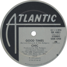 Side-A label for the US 12-inch single