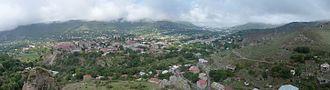 Syunik Province - The town of Goris among the mountains of Zangezur
