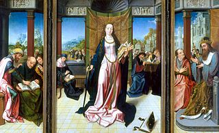 Triptych Saint Catherine and the Philosophers